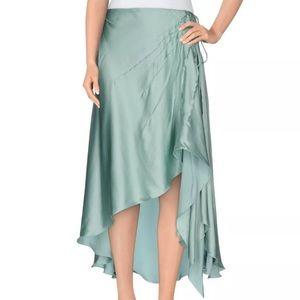 Blumarine Light Green Silk Knee Length Skirt Sz 6